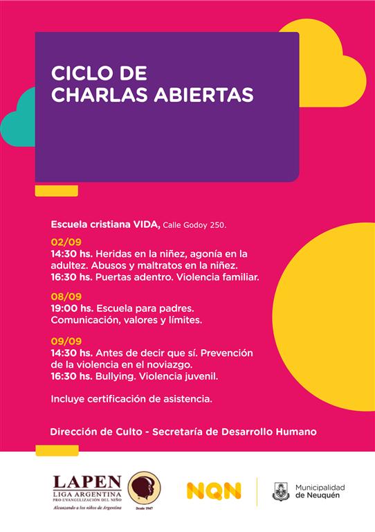 CICLO DE CHARLAS ABIERTAS