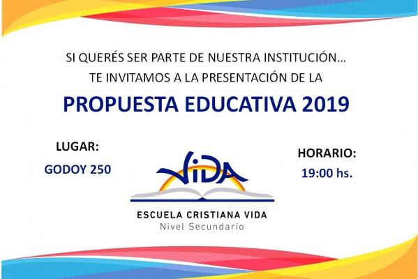Reunión para comentar la propuesta Educativa 2019